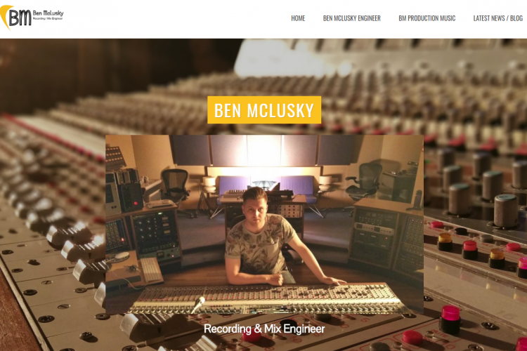 ben mclusky recording engineer