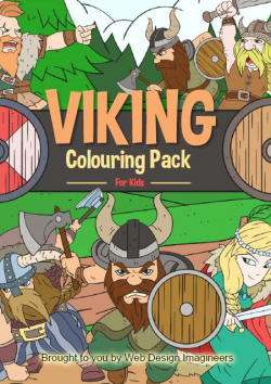 Viking colouring book pack images to colour in