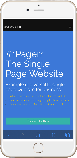 mobile single page web sites web design imagineers east midlands