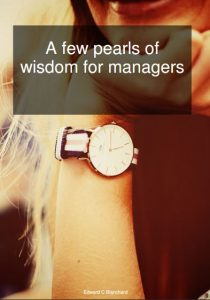 pearls of wisdon for managers