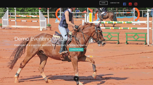 equestrian website desktop version
